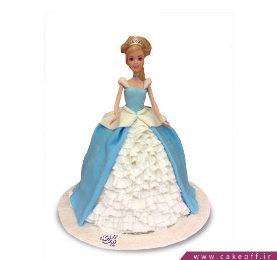 کیک تولد دخترانه - باربی مو طلایی | کیک آف