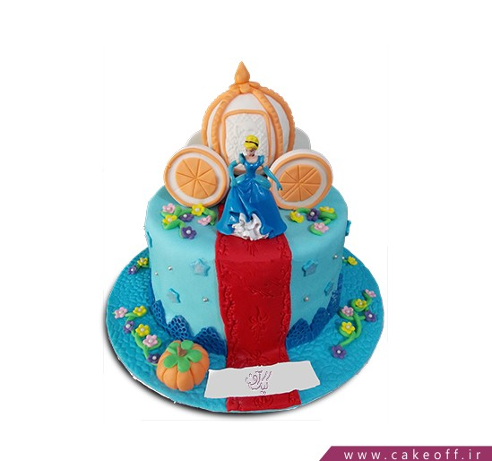 کیک دختر پاشنه کفش طلا