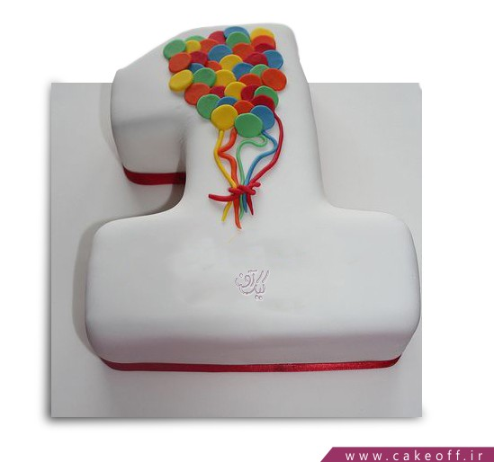 کیک عدد یک بادبادکی
