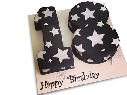 سفارش کیک تولد - کیک عدد هجده آل استار | کیک آف