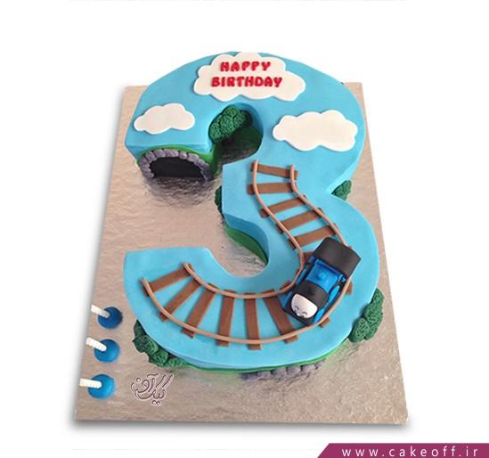 کیک عدد سه قطاری