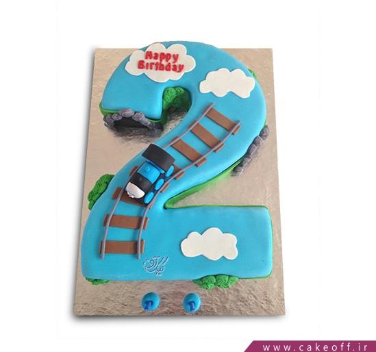 کیک عدد دو قطاری