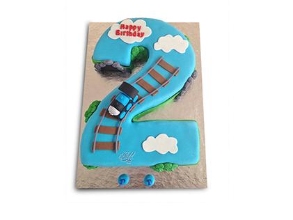 سفارش کیک تولد - کیک عدد دو قطاری | کیک آف