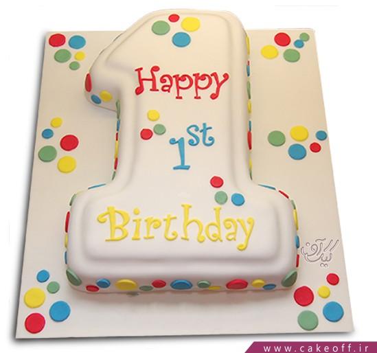 کیک عدد یک خال خالی