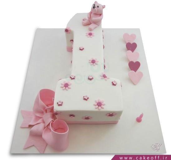سفارش کیک تولد - کیک عدد یک خرسی | کیک آف