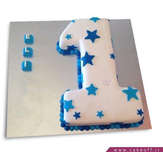 کیک عدد یک ستاره باران