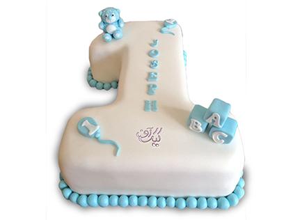 سفارش کیک تولد در اصفهان - کیک عدد یک برفی | کیک آف