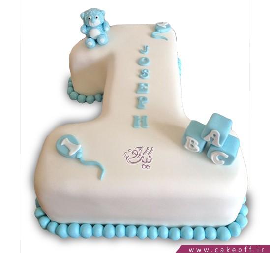 کیک عدد یک برفی