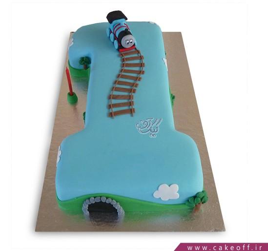 سفارش کیک تولد - کیک عدد یک قطاری | کیک آف