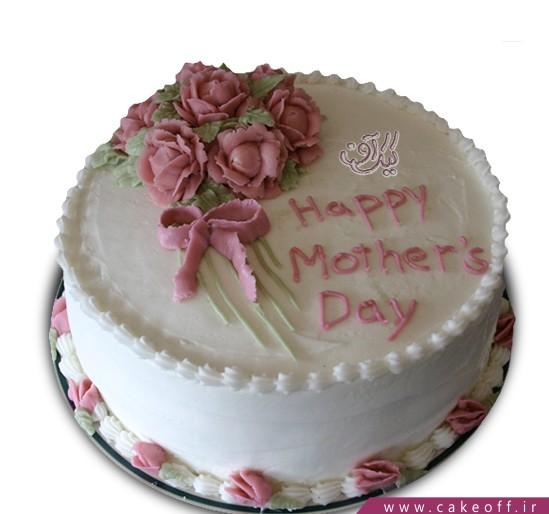سفارش کیک مناسبتی - کیک روز مادر شکفته | کیک آف