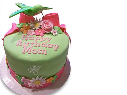 سفارش کیک خاص - کیک تولد مادر پرنده کوچک خوشبختی | کیک آف