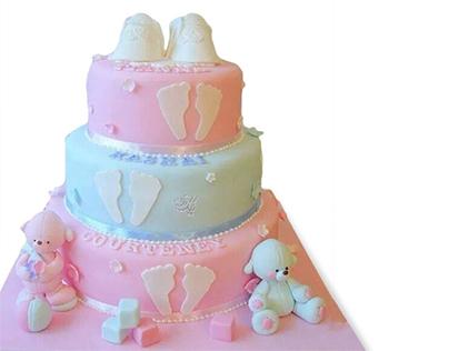 کیک تولد نوزاد الینا - سفارش اینترنتی کیک | کیک آف