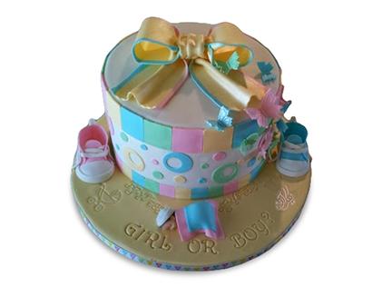 کیک تعیین جنسیت نوزاد انوشه | کیک آف