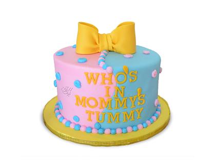 سفارش کیک خاص - کیک تعیین جنسیت نوزاد دنیای مامان | کیک آف