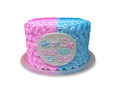 کیک تعیین جنسیت کاوک و چکاوک | کیک آف