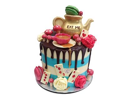 سفارش کیک اینترنتی - کیک تولد قوری طلا | کیک آف