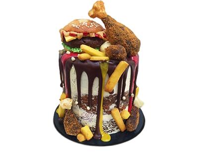 سفارش کیک اینترنتی - کیک تولد فست فود | کیک آف