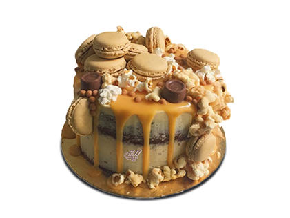 سفارش کیک اینترنتی - کیک تولد شکوفه شکلاتی   کیک آف