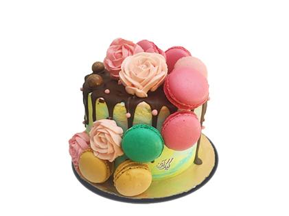 سفارش کیک آنلاین در اصفهان - کیک تولد جشن رنگ | کیک آف