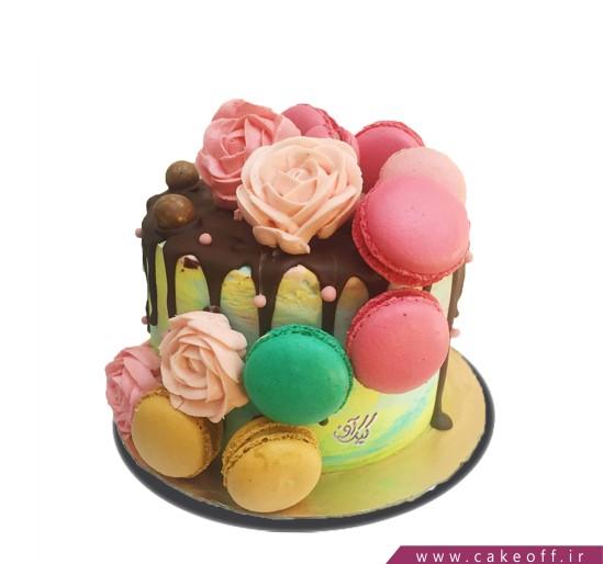 کیک تولد جشن رنگ