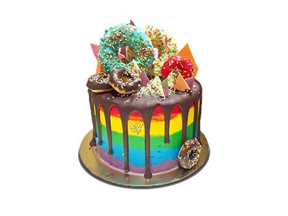 سفارش کیک آنلاین - کیک رنگین کمان | کیک آف