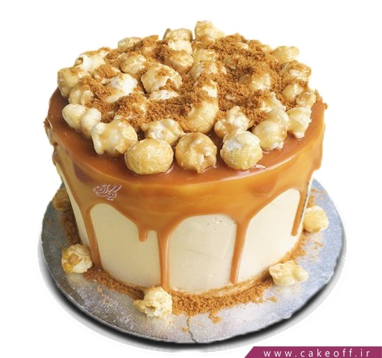 کیک فانتزی - کیک کاراملی پاپ کورن | کیک آف