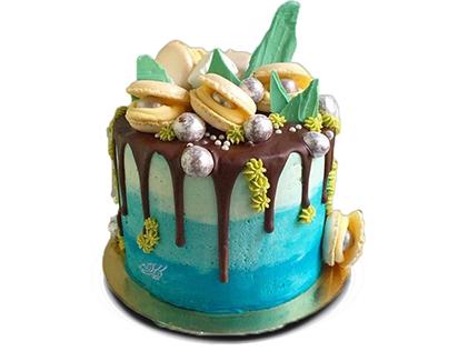 زیباترین کیک های تولد در اصفهان - کیک فانتزی مروارید دریا | کیک آف