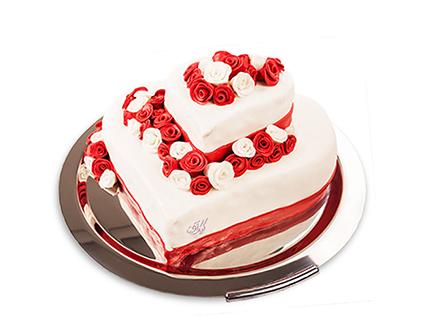کیک سالگرد ازدواج - کیک عاشقانه مهرزاد | کیک آف