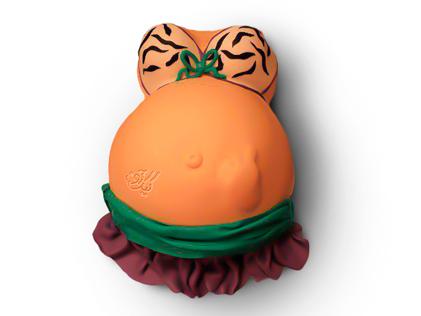 کیک بارداری مامان برنزه | کیک آف