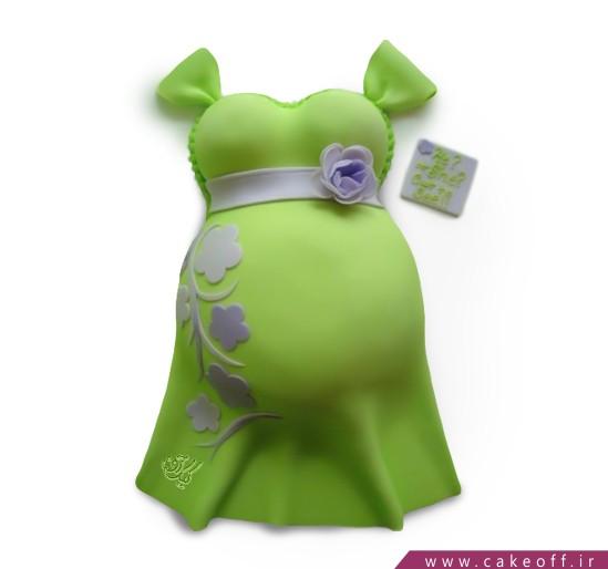 کیک بارداری سبزین مامان