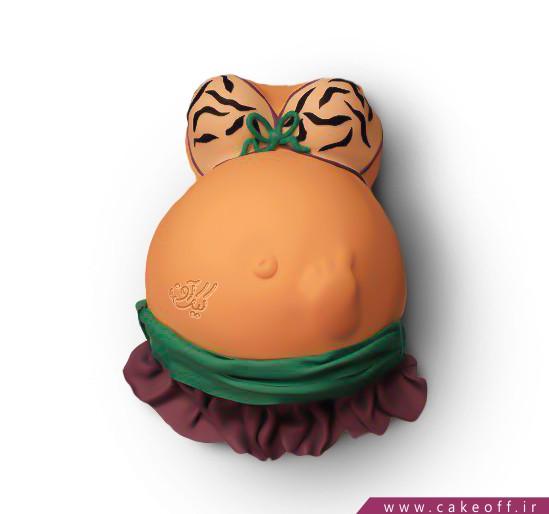 کیک بارداری مامان برنزه