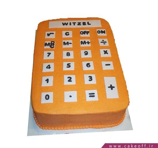 کیک روز حسابدار - کیک ماشین حساب نارنجی | کیک آف