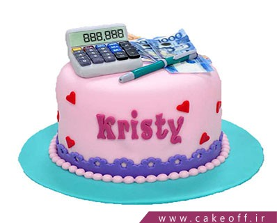 کیک حسابدار - کیک خانم حسابدار | کیک آف