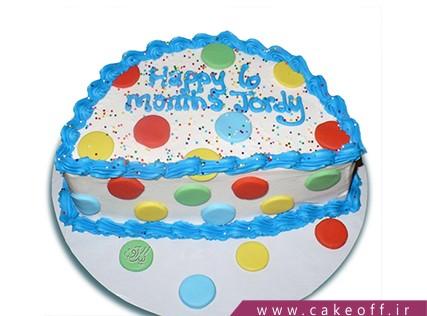 کیک شش ماهگی - کیک شش ماهگی نوزاد- کیک شش ماهگی توپ توپی | کیک آف