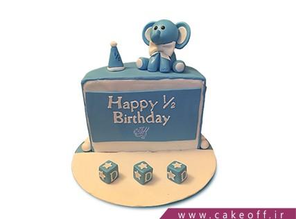 کیک شش ماهگی نوزاد- کیک شش ماهگی من و فیل کوچولو | کیک آف