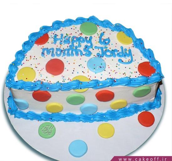 کیک شش ماهگی توپ توپی