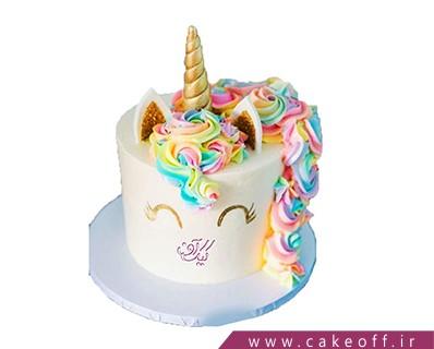 مدل کیک تولد دخترانه - کیک یونیکو اسب تک شاخ 11 | کیک آف