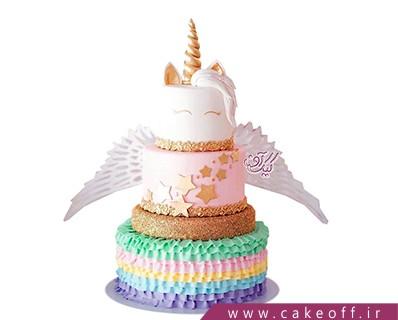 مدل کیک تولد دخترانه - کیک اسب تک شاخ پرواز میکند | کیک آف