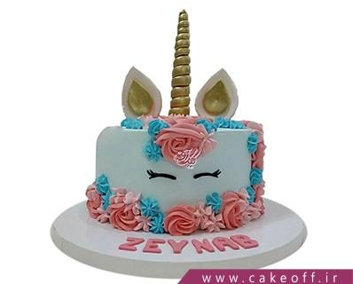 مدل کیک تولد دخترانه - کیک یونیکو اسب تک شاخ 10 | کیک آف