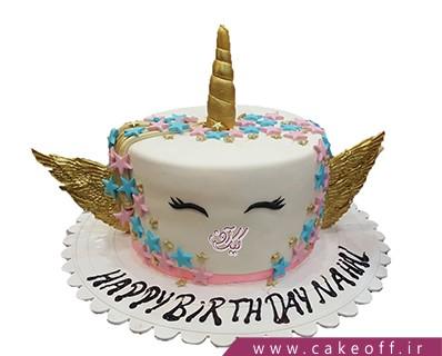 مدل کیک تولد دخترانه - کیک اسب تک شاخ 9 | کیک آف