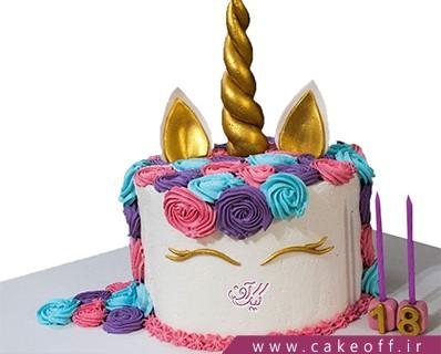 انواع کیک تولد - کیک اسب تک شاخ 7 | کیک آف