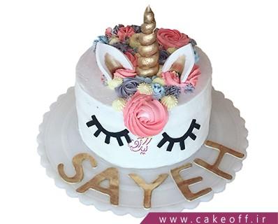 کیک تولد دخترانه جدید - کیک یونیکو اسب تک شاخ بازیگوش | کیک آف