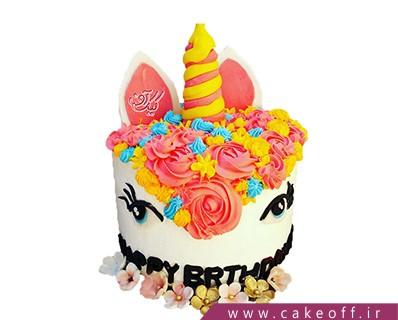 مدل کیک تولد دخترانه جدید - کیک اسب تک شاخ 4 | کیک آف