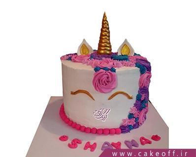 جدیدترین مدل کیک تولد دخترانه - کیک اسب تک شاخ 1 | کیک آف