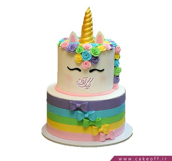 کیک اسب تک شاخ رنگین کمان