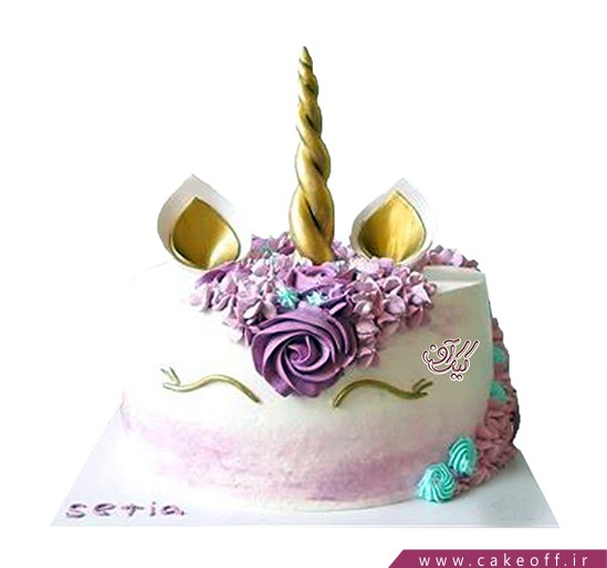 انواع کیک تولد دخترانه - کیک اسب تک شاخ 8 | کیک آف