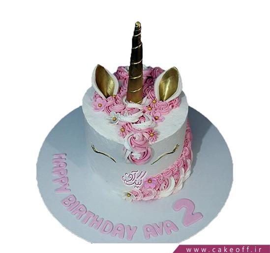 کیک یونیکو اسب تک شاخ رنگارنگ | کیک آف