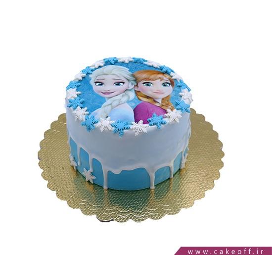 کیک تولد السا چکه ای | کیک آف