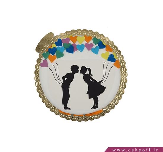 کیک سالگرد ازدواج - کیک بوسه از نو | کیک آف