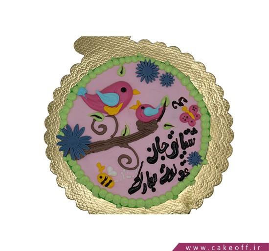سفارش کیک خامه ای - کیک تولد بچه گانه توکا | کیک آف